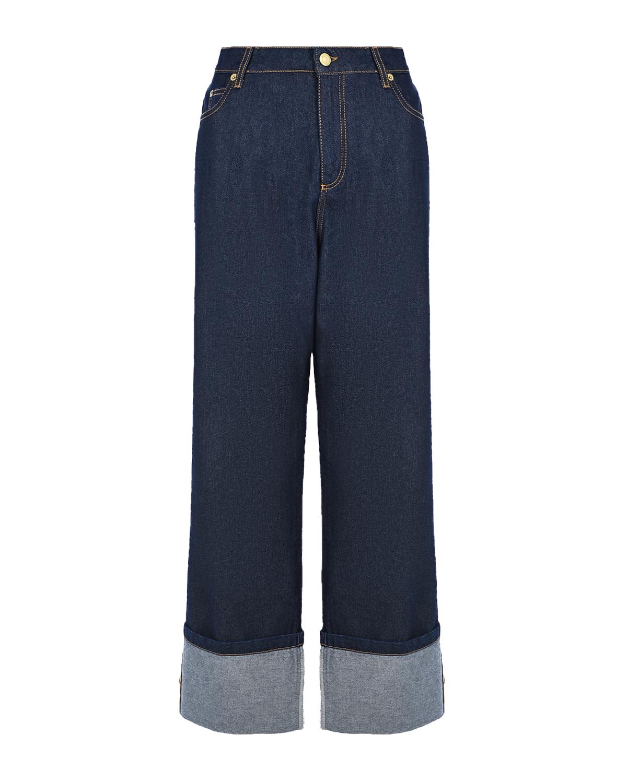 Купить Темно-синие джинсы Ermanno Ermanno Scervino, Нет цвета, 100%хлопок, 51%полиамид+48%полиэстер+1%полиэстер металлизир.