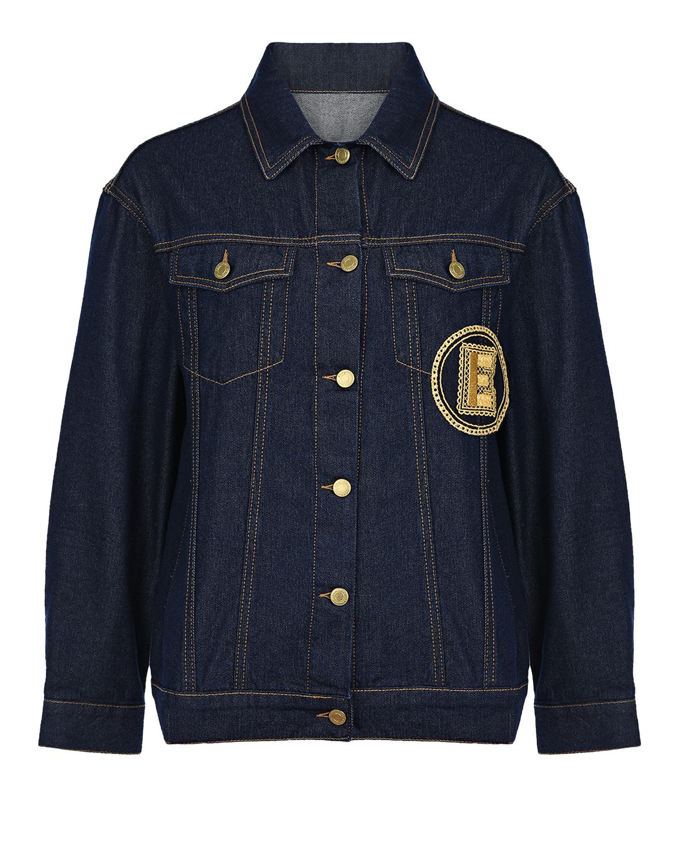 Купить Темно-синяя джинсовая куртка Ermanno Ermanno Scervino, Нет цвета, 100%хлопок