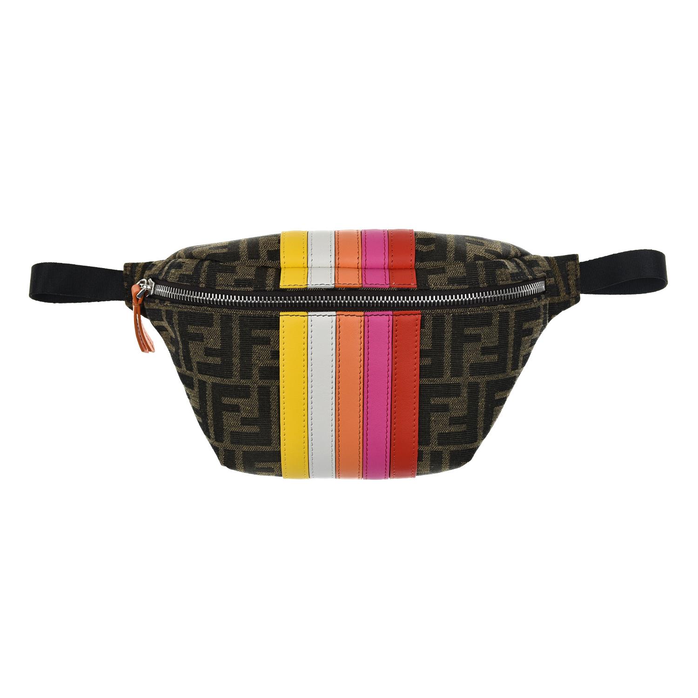 Сумка на пояс в полоску, 15x25x5 см Fendi детская разноцветного цвета