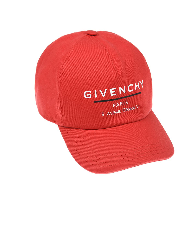 Купить Красная бейсболка с логотипом Givenchy детская, Красный, 100%хлопок