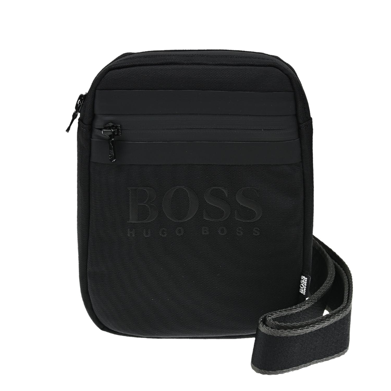 Купить Черная сумка с логотипом, 16x20x4 см Hugo Boss детская, Черный, 100%полиэстер