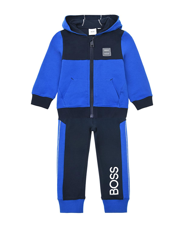 Купить Спортивный костюм (куртка + брюки) Hugo Boss детский, Синий, 95%хлопок+5%эластан, 97%хлопок+3%эластан, 100%хлопок