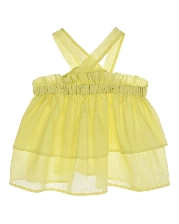Купить Желтый топ с воланами IL Gufo детский, 100%хлопок