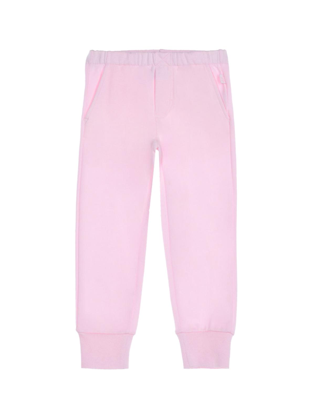 Купить Розовые спортивные брюки IL Gufo детские, Розовый, 100%хлопок, 95%хлопок+5%эластан