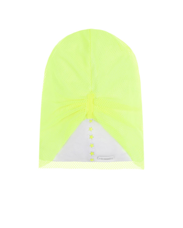 Купить Неоновая шапка с отделкой сетокй Il Trenino детская, Нет цвета, 95% хлопок+5% эластан