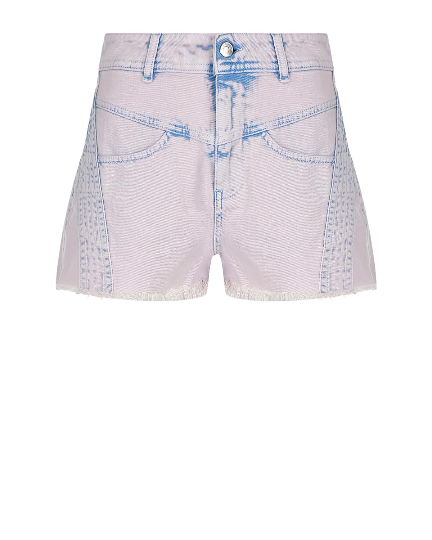 Купить Сиреневые джинсовые шорты IRO, Сиреневый, 100%хлопок