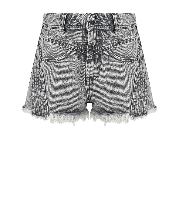 Купить Серые джинсовые шорты IRO, Серый, 100%хлопок