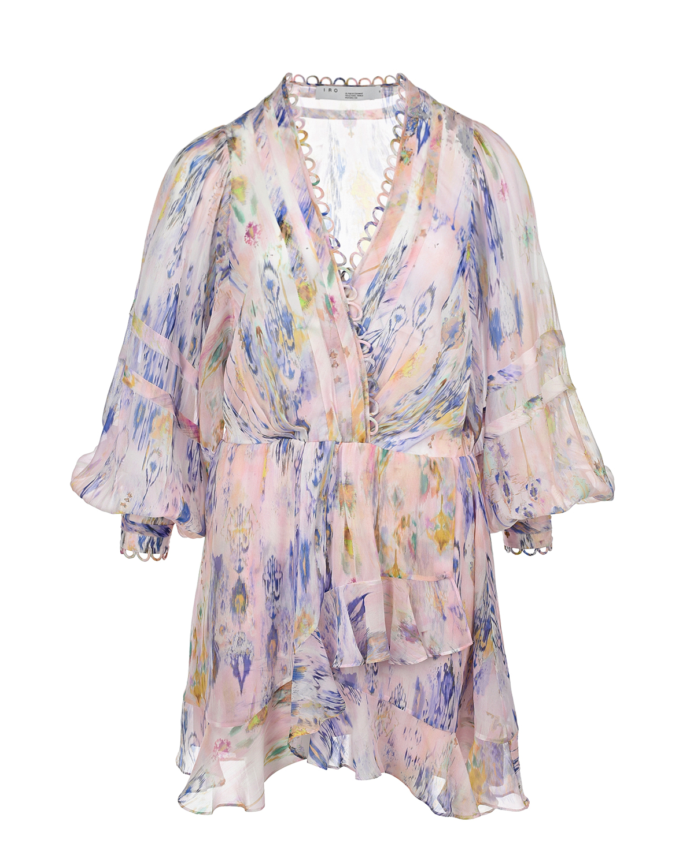 Купить Короткое сиреневое платье IRO, Сиреневый, 100%полиэстер, 100%вискоза