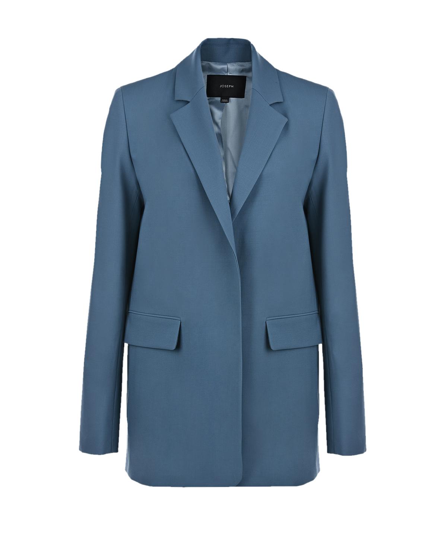 Купить Голубой пиджак из шерсти Joseph, 92% шерсть+5% полиамид+3% лиоцелл, 100% вискоза