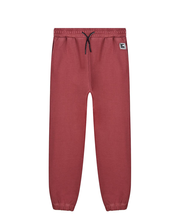 Спортивные брюки терракотового цвета Les Coyotes de Paris детские, Нет цвета, 100% хлопок  - купить со скидкой