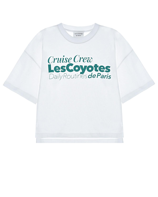 Купить Белая футболка с принтом Cruise Crew Les Coyotes de Paris детская, Белый, 100%хлопок