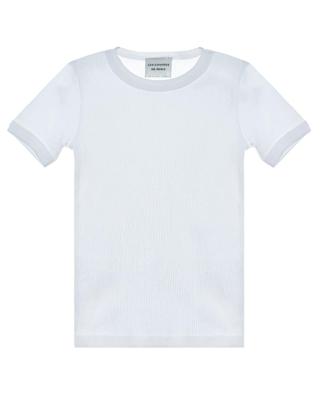 Купить Однотонная белая футболка Les Coyotes de Paris детская, Белый, 100%хлопок