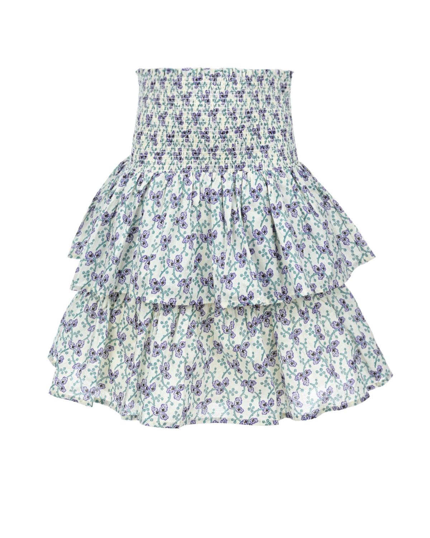 Купить Хлопковая юбка с цветочным принтом Les Coyotes de Paris детская, Мультиколор, 100%хлопок