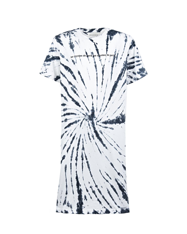 Купить Платье-футболка с принтом тай-дай Les Coyotes de Paris детское, Мультиколор, 100%хлопок