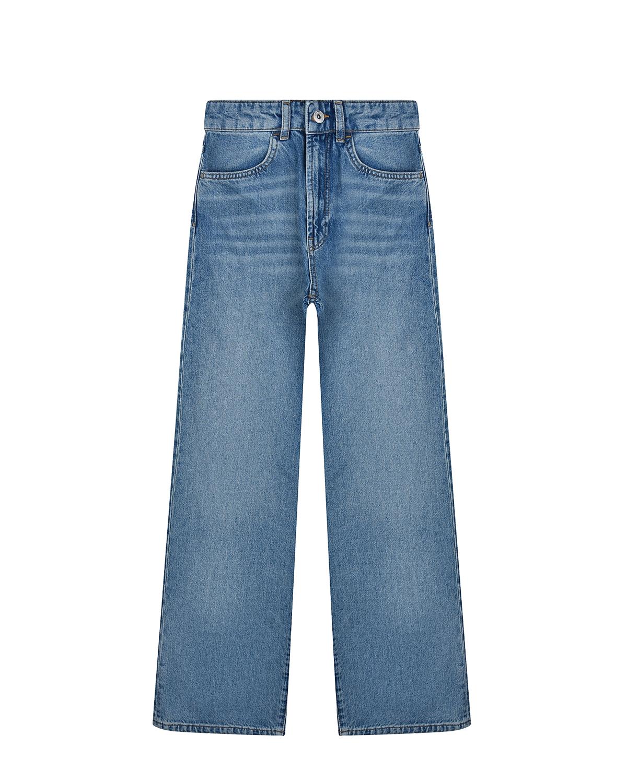 Купить Широкие джинсовые брюки с завышенной посадкой Les Coyotes de Paris детские, Синий, 100%хлопок