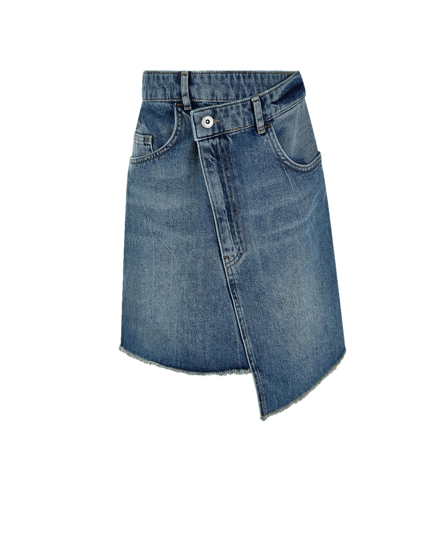 Купить Асимметричная юбка-мини Les Coyotes de Paris детская, Голубой, 100%хлопок