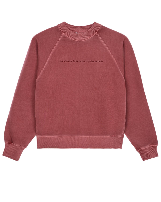 Купить Терракотовый свитшот с логотипом Les Coyotes de Paris детский, Нет цвета, 100%хлопок