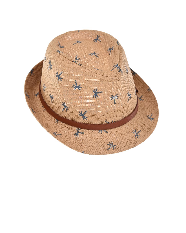 Купить Бежевая шляпа с принтом пальмы MaxiMo детская, Бежевый, 100%бумага