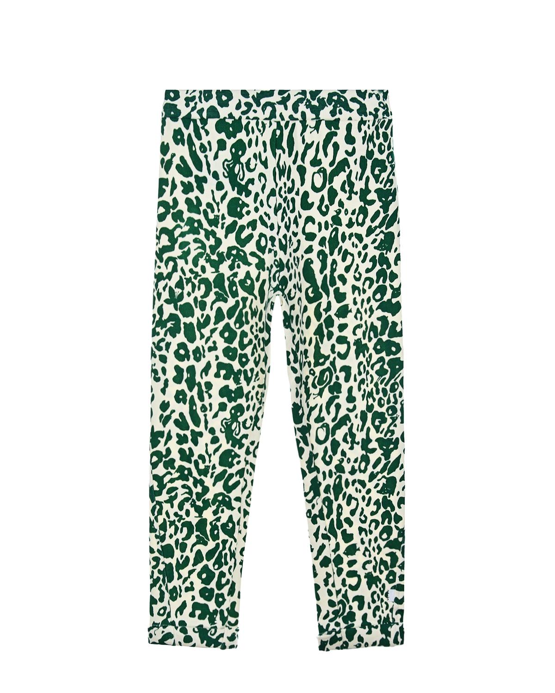 Купить Спортивные брюки Alysie Green Leopard Molo детские, Зеленый, 50%хлопок+50%вискоза