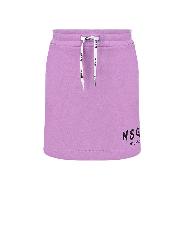 Купить Сиреневая юбка с логотипом MSGM детская, Лиловый, 100%хлопок