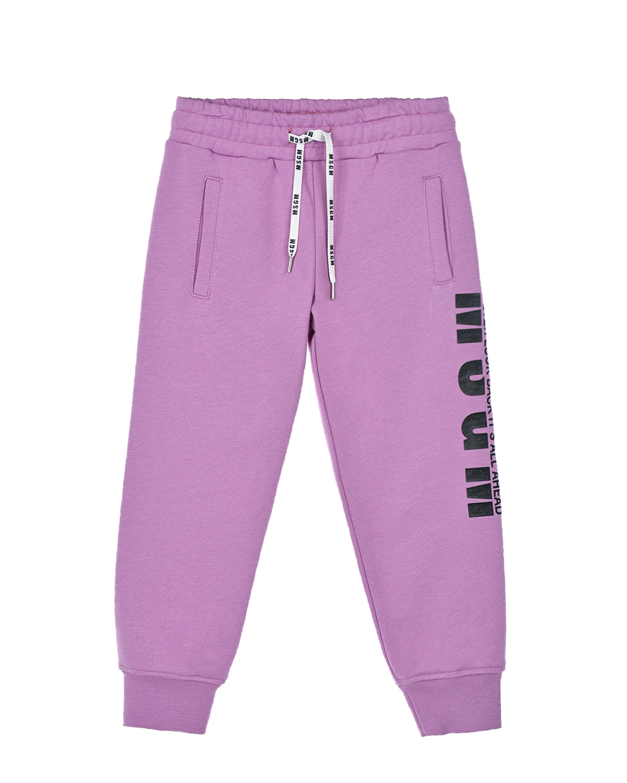 Купить Спортивные брюки лилового цвета MSGM детские, Лиловый, 100%хлопок