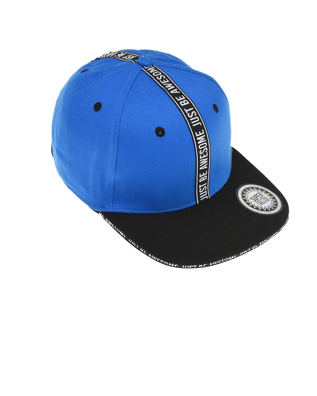Купить Синяя бейсболка с лентой just be awesome MaxiMo детская, Синий, 100%хлопок