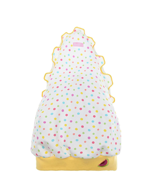 Купить Косынка в разноцветный горошек MaxiMo детская, Белый, 93%хлопок+7%эластан, 96%хлопок+4%эластан