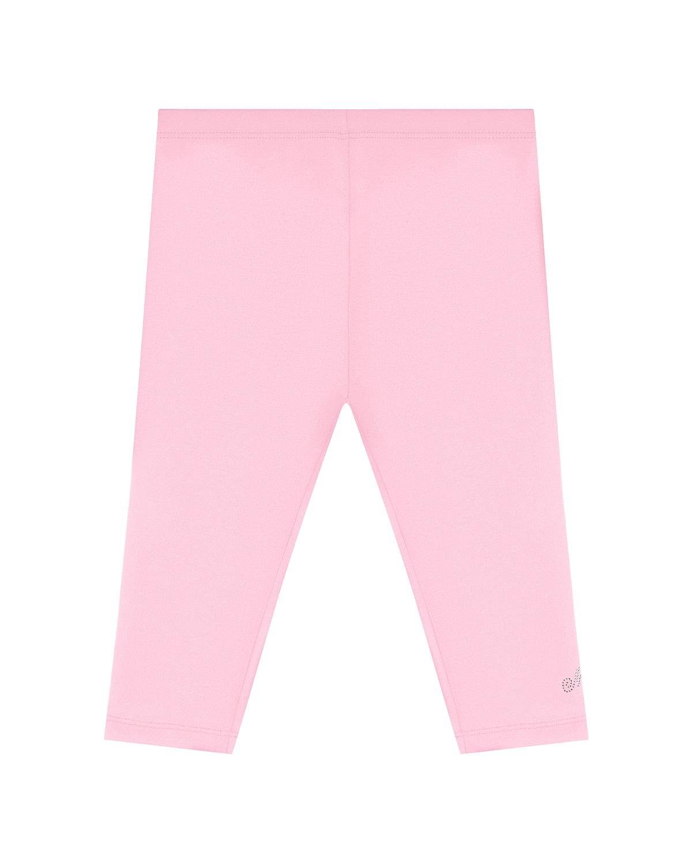 Купить Базовые розовые леггинсы Monnalisa детские, Розовый, 95%хлопок+5%эластан
