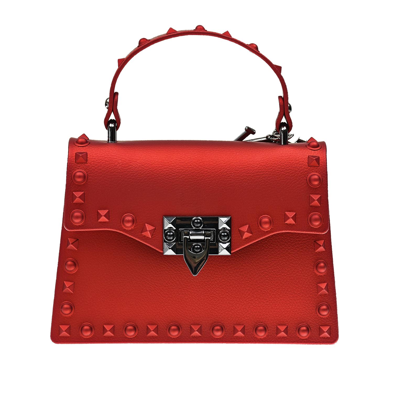 Красная сумка, 14x19x7 см Monnalisa детская красного цвета
