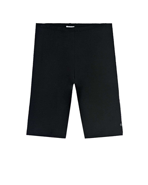 Купить Черные шорты велосипедки Monnalisa детские, Черный, 95%хлопок+5%эластан