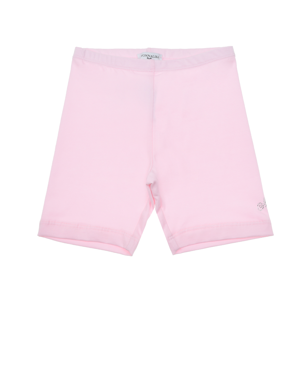 Розовые шорты велосипедки Monnalisa детские, Розовый, 95%хлопок+5%эластан  - купить со скидкой