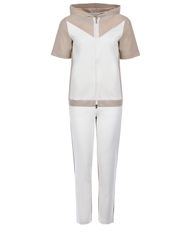 Купить Комплект: толстовка и брюки Panicale, Белый, 98%хлопок+2%эластан, 100%хлопок