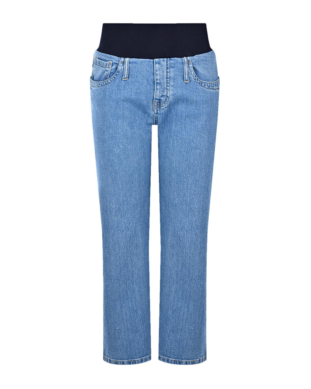 Купить Голубые джинсы для беременных THE 80'S CROPPED Pietro Brunelli, Голубой, 98%хлопок+2%эластан