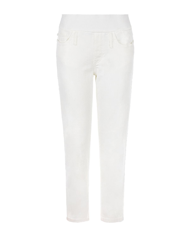 Купить Белые джинсы mum fit для беременных Pietro Brunelli, Белый, 99% хлопок+1% эластан, 98% хлопок+2% эластан