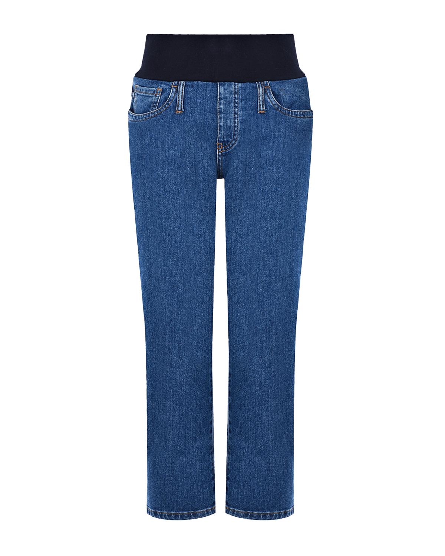 Купить Синие джинсы для беременных THE 80'S CROPPED Pietro Brunelli, Синий, 98%хлопок+2%эластан