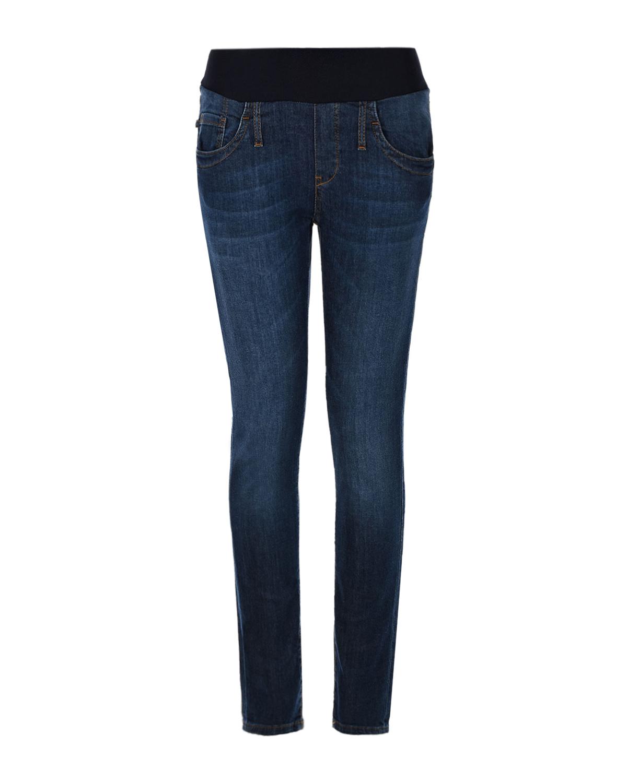 Купить Темно-синие skinny джинсы для беременных Cool girl Pietro Brunelli, Синий, 91% хлопок+7% лайкра+2% эластан, 98% хлопок+2%эластан