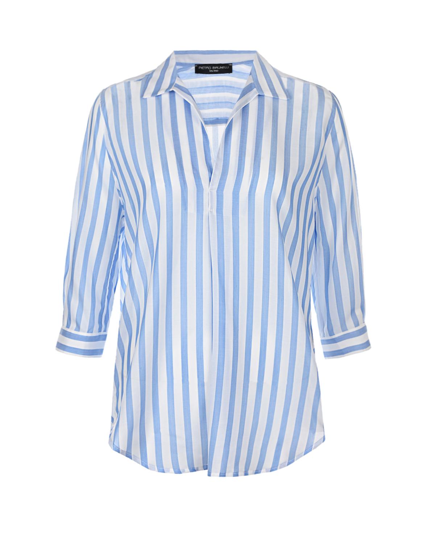 Купить Рубашка для беременных Panarea в бело-голубую полоску Pietro Brunelli, Синий, 100%тенсель