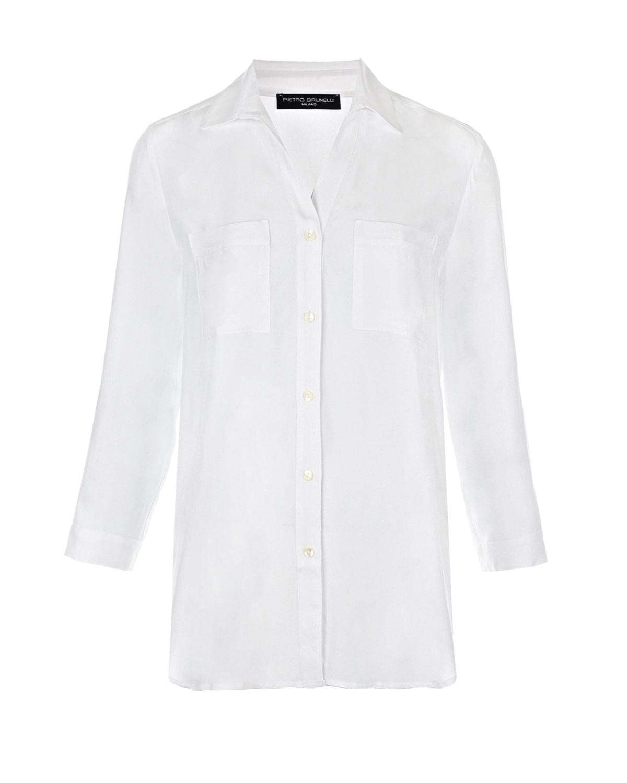 Купить Белая рубашка для беременных Daniela с карманами Pietro Brunelli, Белый, 100% вискоза