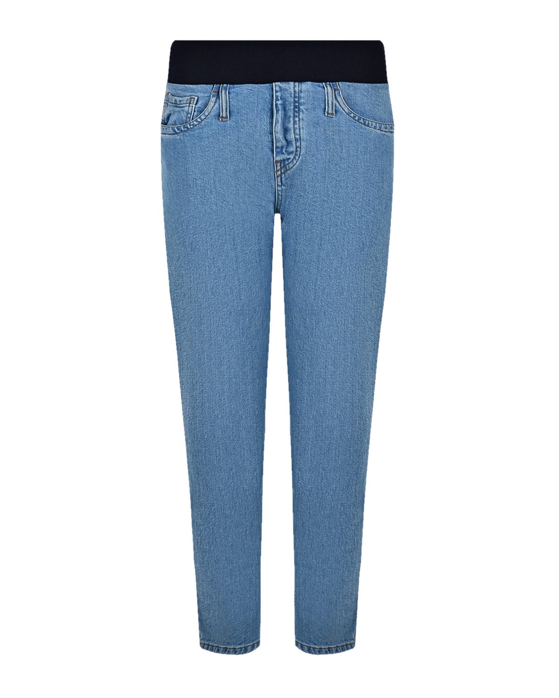 Купить Голубые прямые джинсы для беременных Pietro Brunelli, Голубой, 98%хлопок+2%эластан