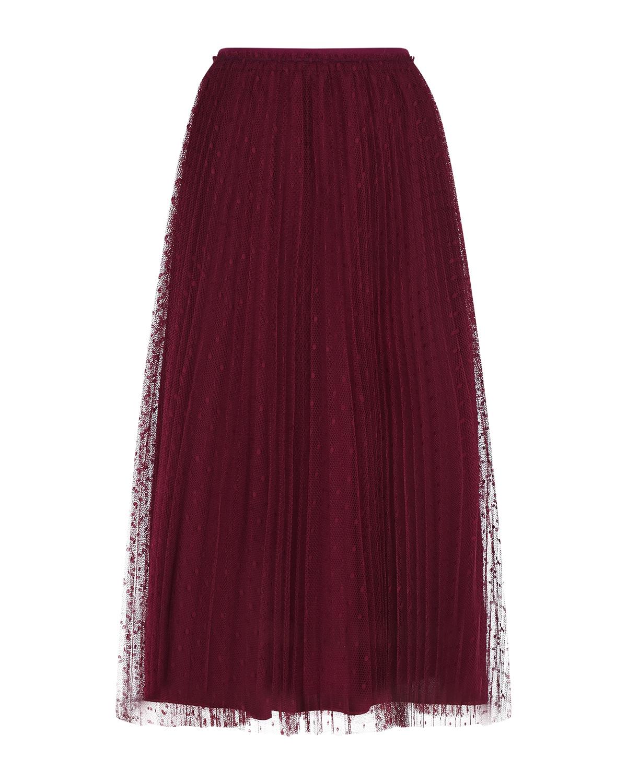 Купить Красная юбка из фатина Red Valentino, Красный, 100%полиэстер