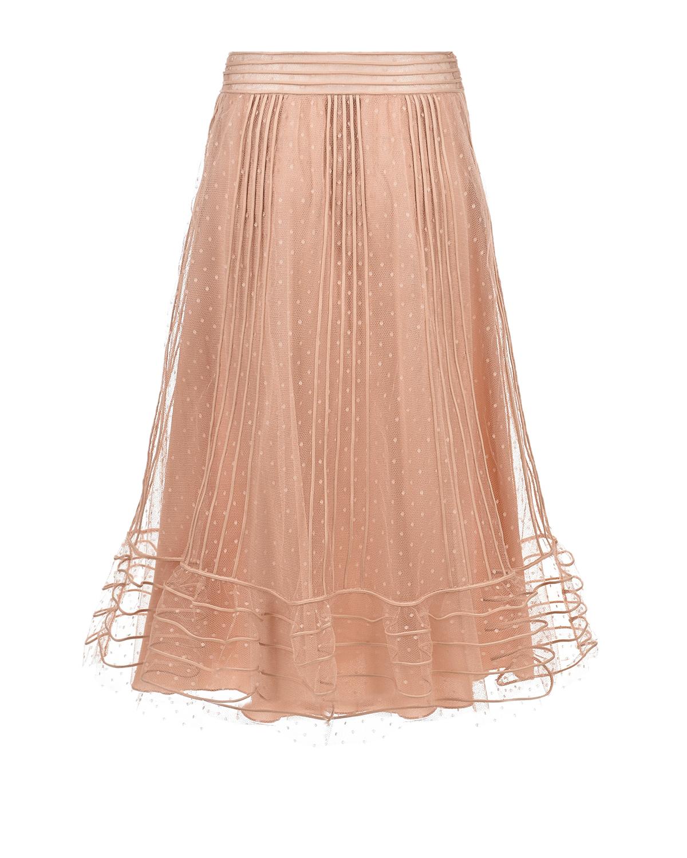 Купить Розовая юбка Red Valentino, Черный, 100%полиэстер
