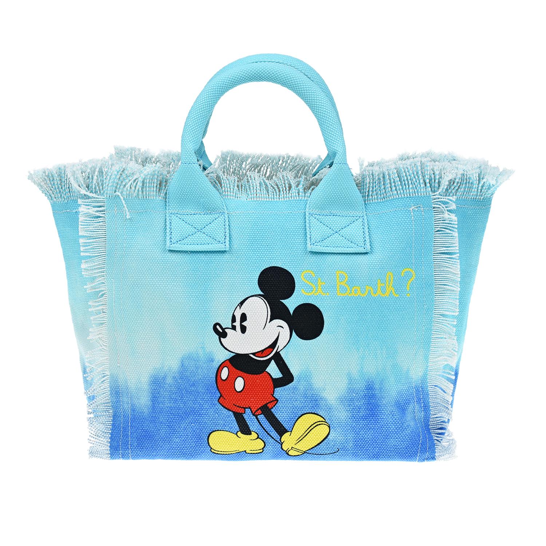 """Синяя сумка с принтом """"Микки Маус"""", 41x35x13 см Saint Barth детская синего цвета"""