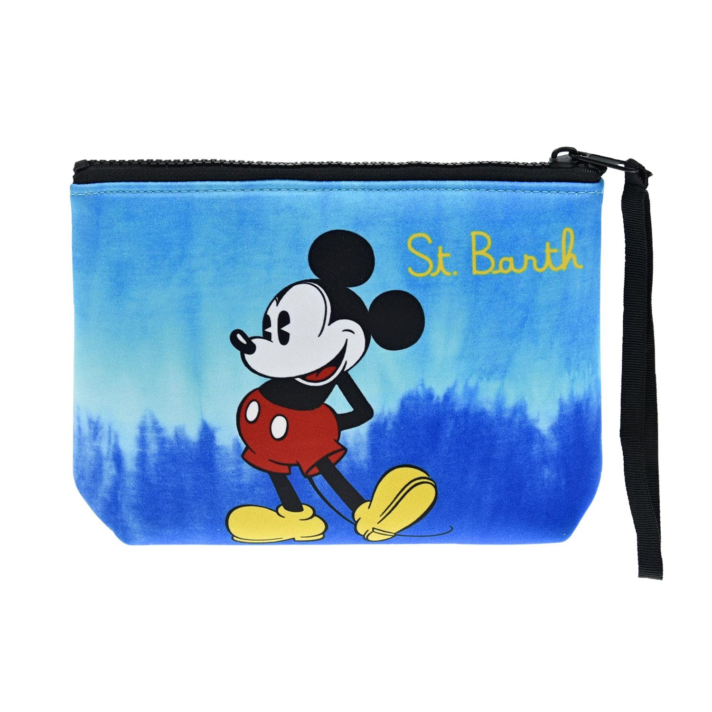 """Неопреновая сумка с принтом """"Микки Маус"""", 20x15x5 см Saint Barth детская Неопреновая сумка с принтом """"Микки Маус"""", 20x15x5 см S синего цвета"""
