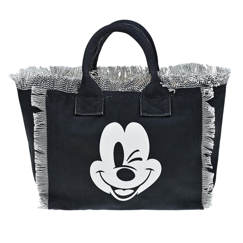 """Черная сумка с принтом """"Микки Маус"""", 41x35x13 см Saint Barth детская черного цвета"""