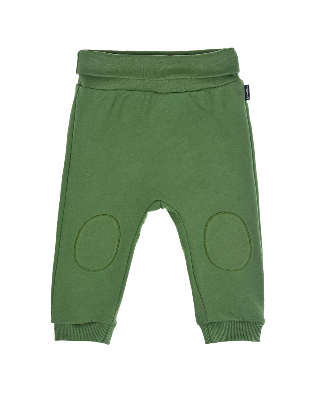 Купить Зеленые спортивные брюки с заплатками на коленях Sanetta fiftyseven детские, Зеленый, 95%хлопок+5%эластан