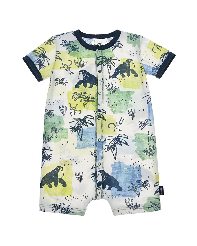 Песочник с тропическим принтом Sanetta Kidswear детский, Мультиколор, 100%хлопок  - купить со скидкой