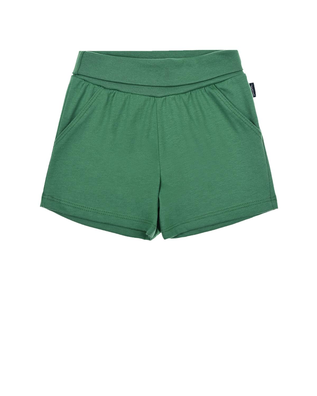 Зеленые шорты с эластичным поясом Sanetta Kidswear детские, Зеленый, 100%хлопок  - купить со скидкой