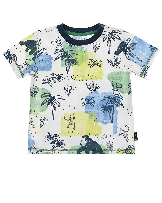 Купить Футболка с тропическим принтом Sanetta Kidswear детская, Мультиколор, 100%хлопок