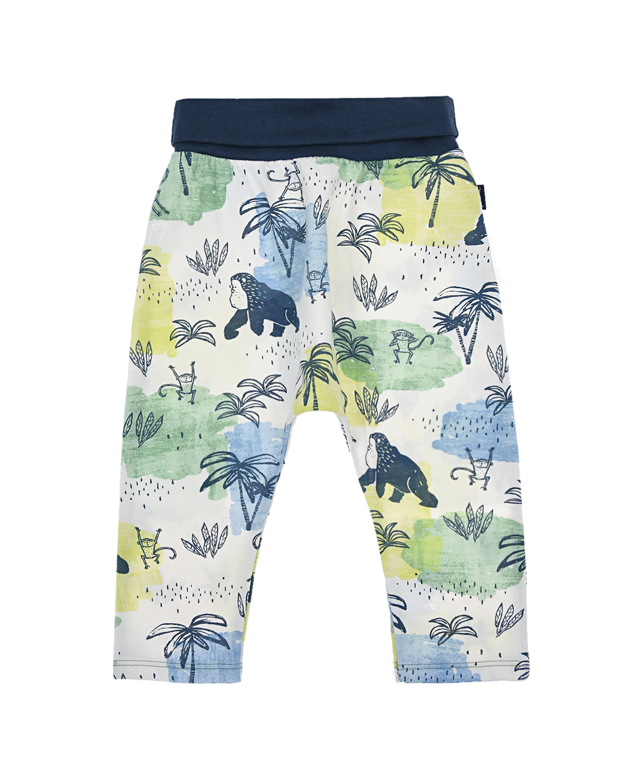 Купить Спортивные брюки с тропическим принтом Sanetta Kidswear детские, Мультиколор, 100%хлопок