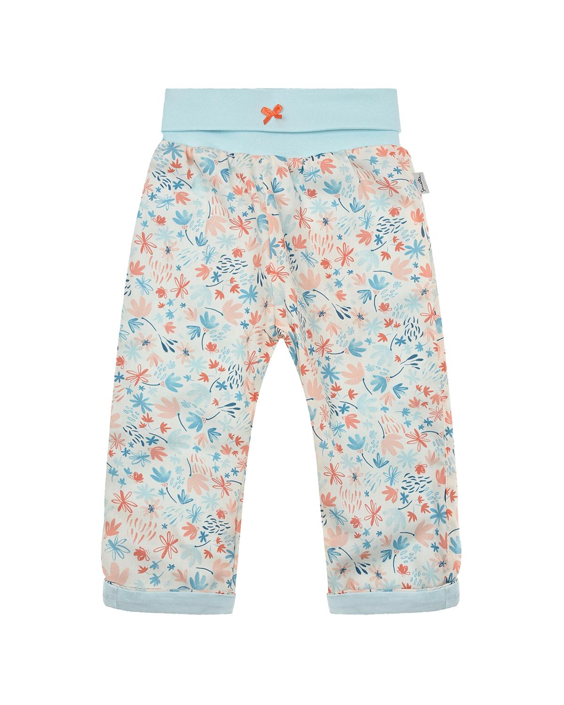 Купить Спортивные брюки с цветочным принтом Sanetta Kidswear детские, Мультиколор, 100% хлопок